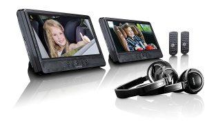 lecteur dvd de voiture double écran DVP-1045 de Lenco
